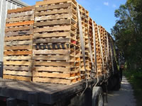 Truck load of remanufactured 2 way pallets