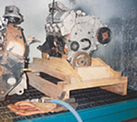 Motor Pallet Shown with an Automobile Engine